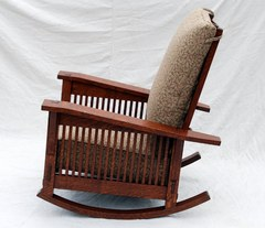 Side view showing the rocker in it's most upright position.