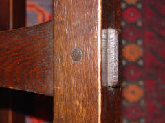 Detail, arched stretcher and through-tenon.