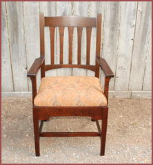 Bungalow arm chair, front view.