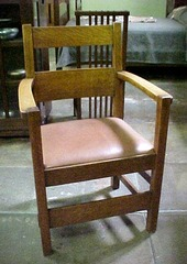 Front view, arm chair.