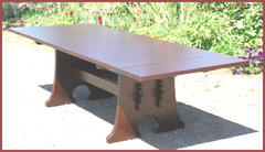 Lower view of table with leaves installed.