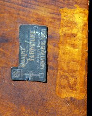 Stickley Brothers signature brass tag and stenciled model number.