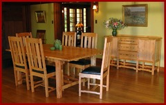 Shown with matching dining table and chairs.
