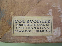 Original framers label on reverse.