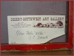 Old gallery label on reverse.