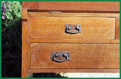 Detail drawer fronts and two sizes of pulls.