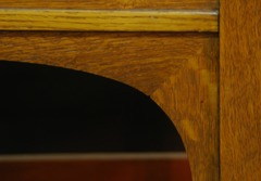Detail arched support joinery.