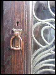 Close-up Cabinet Door Pull.