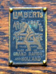 Original rare brass tag used on Limbert's Yellowstone Park spindle chairs.