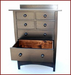 Shown with one drawer fully extended.