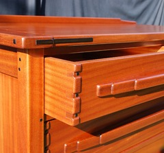 Drawer construction detail.