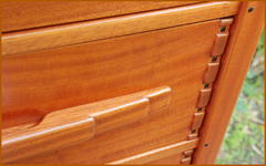 Drawer detail.