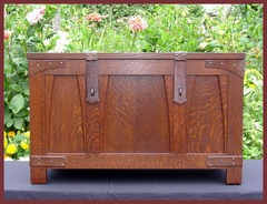 IMAGE OF SECOND BRIDES CHEST FINISHED IN A DARKER COLOR.