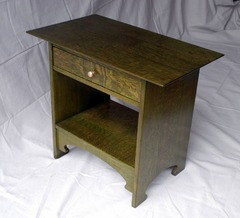 Additional photograph of one of the matching nightstands  ( Temporary pull ).
