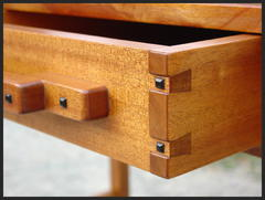 Close-up of drawer construction.