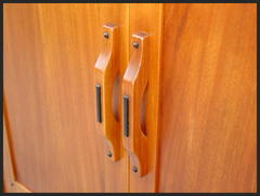Close-up of door pulls.