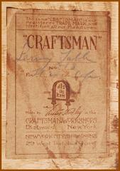 Gustav Stickley Craftsman paper label.