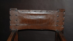 Original leather on back of chair.