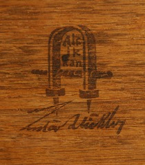 Gustav Stickley black stamp signature.
