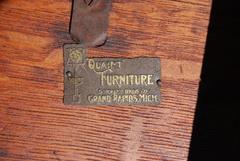 Stickley Brothers Quaint brass tag located on the underside of the table top.