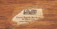 Lifetime Furniture Company paper label.