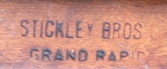 Stickley Brothers signature brand.