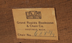 Lifetime Furniture Company signature paper label.