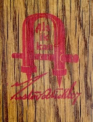 Signed inside the back with the firms red decal signature. 1905-1912