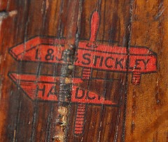"Red decal signature ""L.& J.G. Stickley, Handcraft"" on inside of front leg.  Circa 1906-1912."