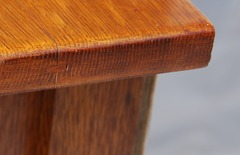 Quality spline joinery in top of sideboard.