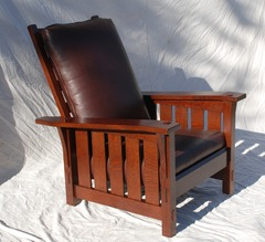 Gustav Stickley inspired Medium Size  Slant Arm Reclining Morris Chair