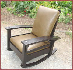 Bow Arm Adjustable Rocking Morris Chair Inspired by Gustav Stickley's early  Bow Arm Morris Chair