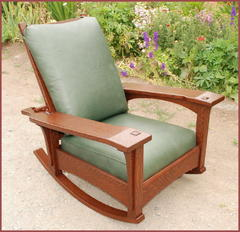 Stickley Inspired Slant-Arm Paddle-Arm Morris Rocker