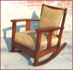 Limbert Ebon Oak Inlaid Rocker Accurate Replica