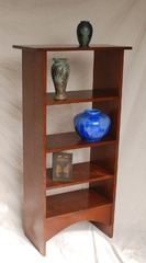 Voorhees Craftsman Workshops custom magazine stand bookshelf.