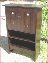 Stickley Ellis Inspired Custom Entertainment Bookcase Cabinet