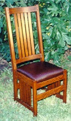 L. & J. G. Stickley Style Slatted Side Chair
