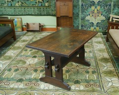 Gustav Stickley Early Trestle Table 1902