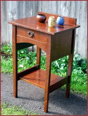 Accurate Replica of a Rare Gustav Stickley Harvey Ellis Stand / Nightstand