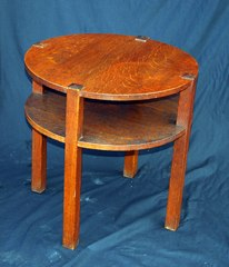 Vintage L & J G Stickley Onondaga Tea Table in original condition