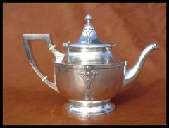 Shreve & Co. Sterling and Ivory Teapot 14th. Century Pattern