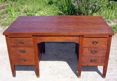 Antique L. & J. G. Stickley Office Desk Model 615