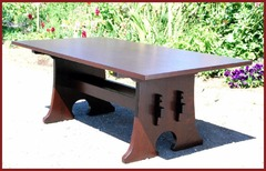 Mousehole Dining Table with Leaves,  Inspired from an antique L.& J G Stickley Table