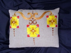 Vintage Arts and Crafts Pillow