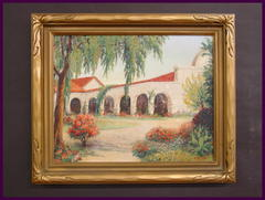 Original Oil Painting on Canvas of  the San Juan Capistrano Mission.