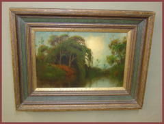 Plein Air Landscape Painting by  Well Listed California Artist James Everett Stuart. ...near Palo Al