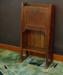 Very rare L & J G Stickley Onondaga Shops period drop front desk circa 1902 to 1906.
