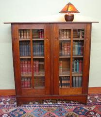 Original 1903 Gustav Stickley Harvey Ellis designed inlaid bookcase