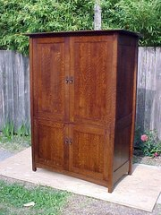 ...(ITEM RETIRED)...Custom Four Door Entertainment Center