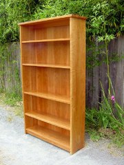 Custom Cherry Open Bookcase